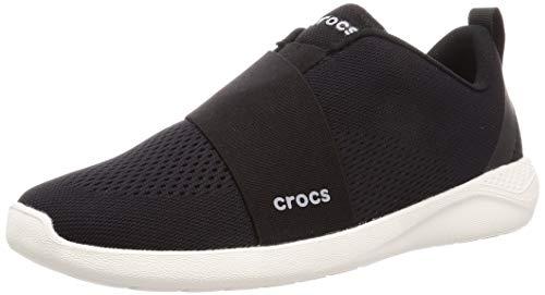 Crocs Herren Literide Modform Slip On M Freizeitschuhe und Sportbekleidung Man, Multicolor (Schwarz/Weiß), 44 EU