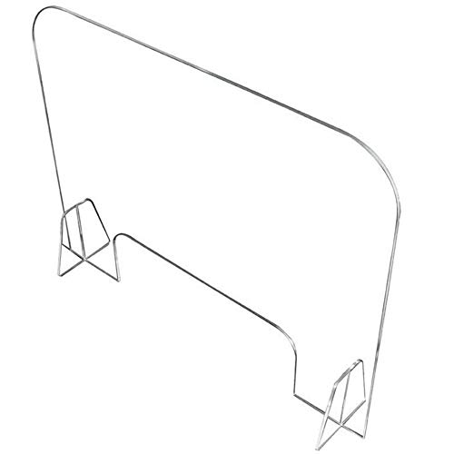 Lichtgewicht Draagbare Plexiglas Nies- En Hoestbescherming Voor Werkbladen | Transparant Acryl | Verkoopbalie/Ontvangstbeschermingsbarrière Voor Werkgevers, Werknemers En Klanten