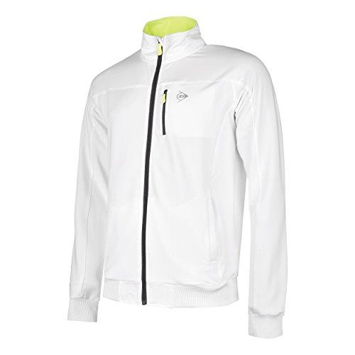 Dunlop Damen Clubline Knitted Jacket Boys Jacken, Weiß, 176