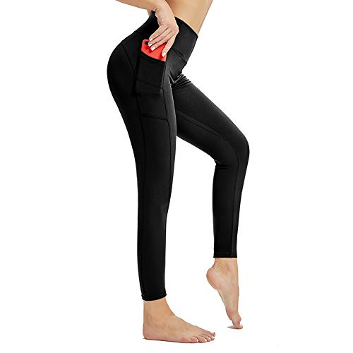 RaMokey Leggins Mujer Deporte Fitness Cintura Alta Leggings Mallas Pantalones Deportivos Leggins con Bolsillos para Running Fitness Yoga Pilates Leggings y Ejercicio