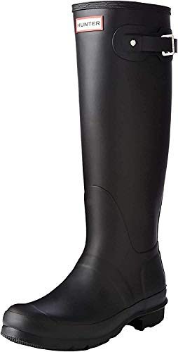 Hunter WOMENS ORG TALL, Damen Gummistiefel, Schwarz (Black), 40/41 EU