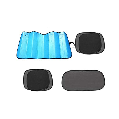 Auto Sunshield, Combinatie Verlaag de temperatuur in de auto Sunscreen Insulation Zonnescherm All Seasons kunnen worden gebruikt Zonblok (Color : Blue)