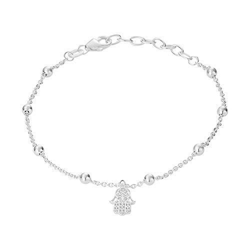 Identim Fatimas 22013503100 Hamsa - Pulsera de mano (16 cm de largo y 3 cm de largo, plata de ley 925)