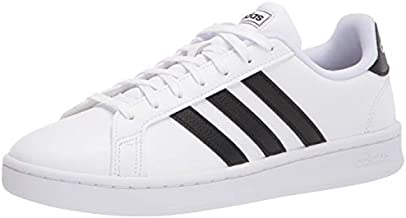adidas Women's Grand Court Tennis Shoe, White/Black/White, 9 M US