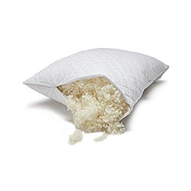 Paragon Woolen Dreams Hypoallergenic Wool Fill Pillow - Standard - Adjustable Loft - Healthier Sleep - Made in the U.S.A. by Veterans - Earth Friendly