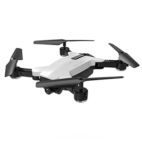 JJDSN Drone de Doble cámara 1080P, WiFi FPV Video en Vivo Minutos Plegables Tiempo de Vuelo Sígueme RC Quadcopter para Principiantes para Adultos, Blanco