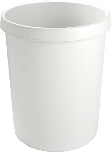 helit Gross-Papierkorb, 45 Liter, PE, lichtgrau