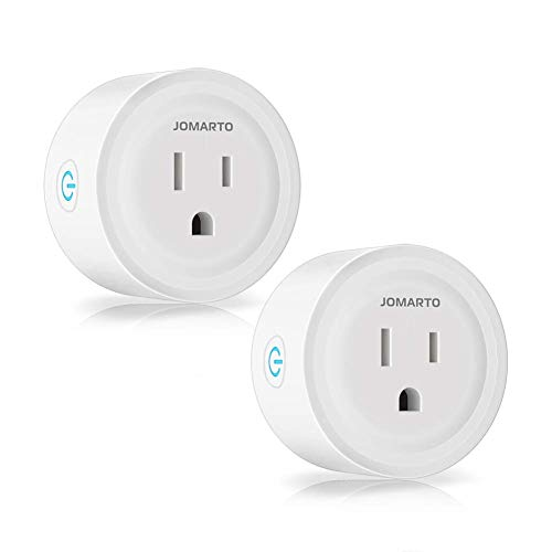 WiFi Smart Plug Outlet, 2 Pack Mini Smart Plug Socket Compatible with Alexa, Google Home and IFTTT, APP Remote Control and Timer Function No Hub Required (MINI Round)