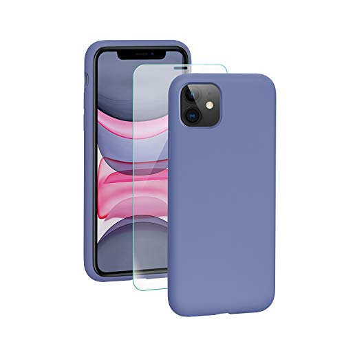SmartDevil iPhone 11 Hülle Silikon [Freier Schutzfilm] Stoßfest Dünn Handyhülle Luxusausgabe Silikon iPhone 11 Schutzhülle mit Soft Microfaser Tuch Futter Bumper Case Cover