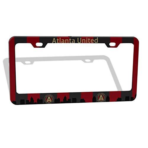 EROOU8W Atlanta United License Plate Car Frame Collage License Plate Frame Aluminum Atlanta United Racer Flat Hole