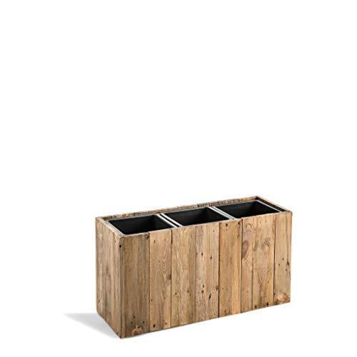 Luca Lifestyle Pflanzkasten Marrone Box Dark Flame Wood Rechteckig Holz *5 Jahre Garantie* - 66.5x24.5x35 cm - F474
