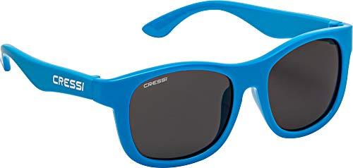 Cressi Teddy Sunglasses, Occhiali da Sole Unisex Bambino, Azzurro/Lenti Fume, 0-2 Anni