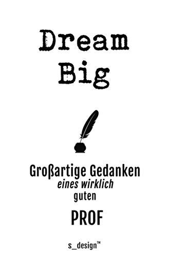 Notizbuch für Prof / Professor / Professoren / Dozenten: Originelle Geschenk-Idee [120 Seiten kariertes blanko Papier] __