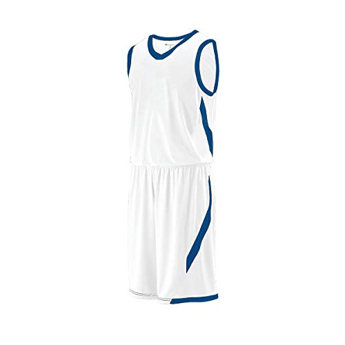 Holloway Unisex-Jugend Boys' LATERAL Short Sportswear Sportbekleidung, Weiß/Königsblau, Mittel