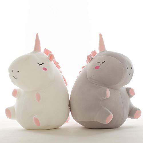 2 uds 25Cm Unicornio de Peluche de Juguete Gordo Unicornio muñeca Lindo Animal Relleno Unicornio Suave Almohada bebé niños Juguetes para niña cumpleaños