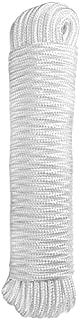 ATERET 1/4 inch by 80 Feet Diamond Braid Polypropylene Rope I Multipurpose Flagline Rope, UV Resistant & Excellent Shock A...