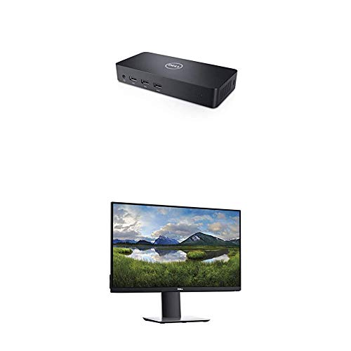 Dell USB 3.0 Ultra HD/4K Triple Display Docking Station (D3100) with Dell P Series 24' Screen LED-Lit Monitor Black (P2419H)