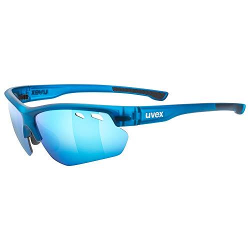 Uvex S5309784416 Occhiali, Blue Mat Mirror Blue Litemirror Orange Clear, 3 1 0
