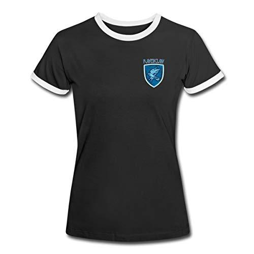 Spreadshirt Harry Potter Ravenclaw Logo Women's Ringer T-Shirt, XL, Black/White