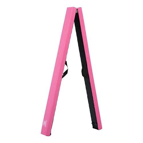 Z ZELUS Schwebebalken Gymnastik Training Balance Beam 244 x 10 x 6,5 cm Gymnastikbalken Balken Turnen für Kinder Zuhause Draussen Garten Turnen Übungs (Rosa)