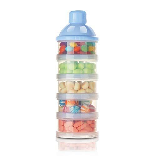 Kousa Babymelk Formule Dispenser,Draagbare 5 lagen niet-morsen stapelbare Snack Storage Container voor reizen Outdoor Activiteiten