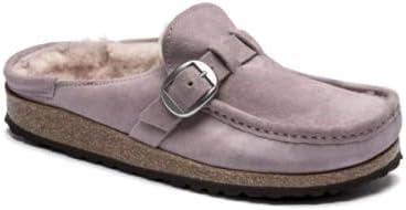 trust Skreened Women's Shearling Flat Popular brand Leather Suede
