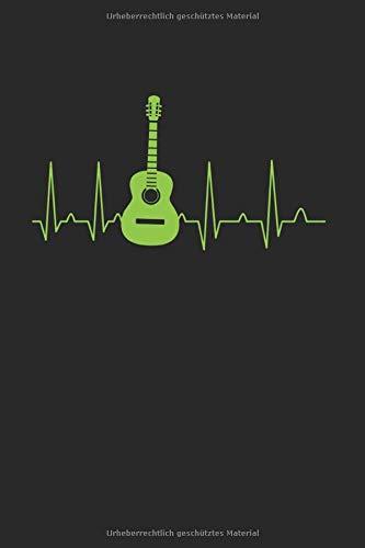 Gitarren Herzschlag | Notizheft/Schreibheft: Gitarren Notizbuch Mit 120 Gepunkteten Seiten (Dotgrid). Als Geschenk Eine Tolle Idee Für Gitarristen, Musiker Oder Band Mitglieder