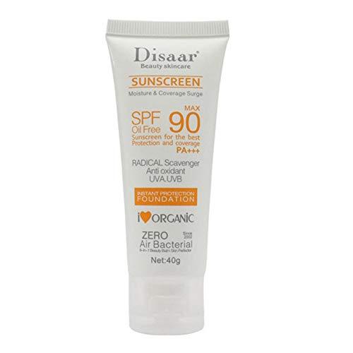 Globalqi-MU Sensitive Skin Sonnencreme, ultrareine, wasserfeste und nicht fettende Sonnenschutzlotion mit breitem Spektrum SPF90 +