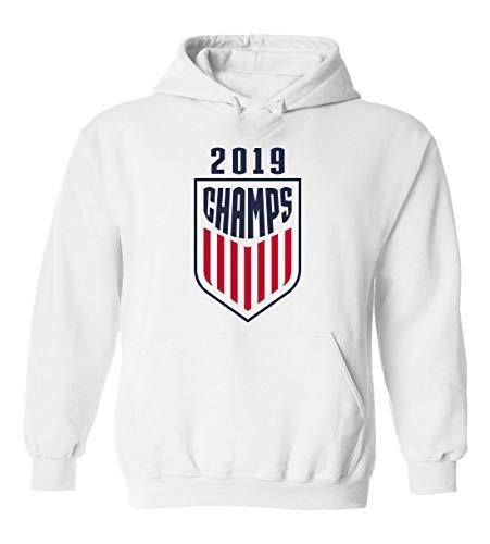 White USA USWNT 2019 Champs Champions Hooded Sweatshirt Youth