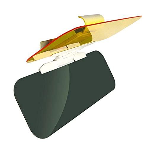 QINQIN Viseras Parasol Ajuste para el Coche Sun Visor 2 en 1 Placa de sombrilla Clear Vision Girlable Ajustable Anti- Glame Vehee Vehace Visor