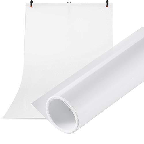 Selens PVC Hintergrund 120x200cm Wasserdicht Fotografie Hintergründe Matte und Glatte Doppelseitiger Background für Fotostudio Weiß