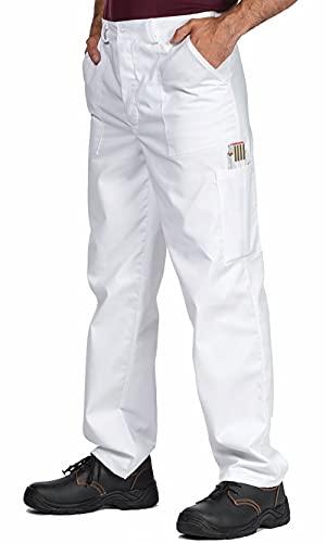 Pantalons de Travail Homme, Grandes Tailles jusqu'à 3ХL. Bleu, Blanc, Rouge, Vert, Gris, Blanc, S