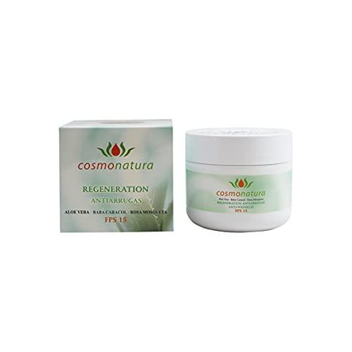 Cosmonatura- Crema antiarrugas con aloe, baba de caracol y rosa mosqueta
