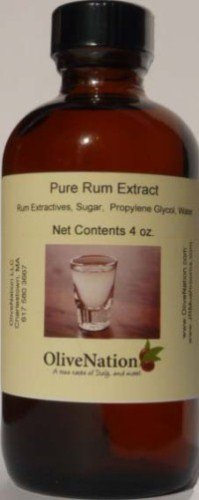 OliveNation Pure Rum Flavor - 4 ounces - Premium Quality Pure Baking Extract with Finest Rum Flavor