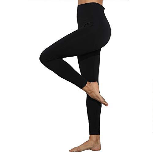 CLOUSPO Fitness Legging de Sport Femme Pantalon de Yoga Fitness Gym Taille Haute sans Couture Slim Push Up Butt Lifter Pants (Noir, S)