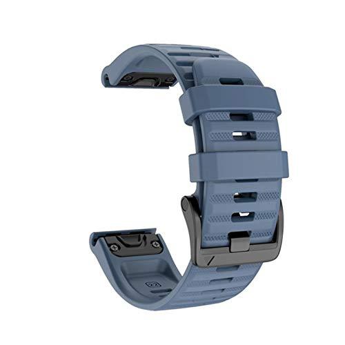 Home CNLXDSB 26 22mm Silicone Reloje de liberación rápida Correa de Banda for Garmin Fenix 6X Pro Watch Strap de Banda de muñeca for Fenix 6 Pro Watch (Color : Navy, Size : 26mm Fenix 5X 3 3HR)