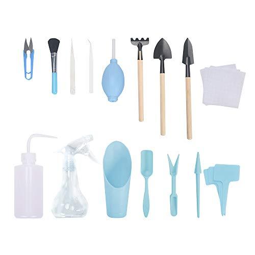 Debuy Mini-Gartenwerkzeug-Set,Kunststoff Garten Tragbare Werkzeugschaufel, Garten Pflanze Werkzeugset Für Erwachsene Und Kinder 16Stücke