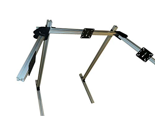 Sandts Racing Fabrication Aluminum Extrusion Triple Monitor Stand