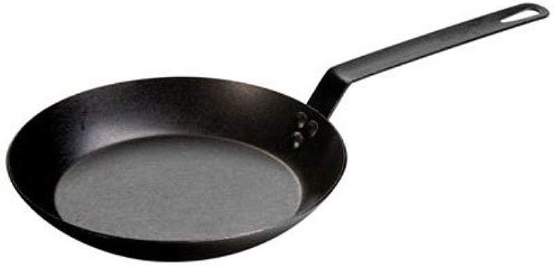 Lodge 12 Inch Seasoned Carbon Steel Skillet Large Steel Skillet For Family Size Cooking