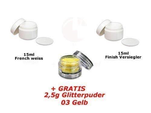 15ml Français Blanc + 15ml FINITION + glitterpuder 03 GRATUIT