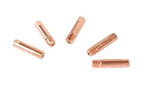 WELDINGER MIG/MAG Stromdüsen M6 1 mm 5er Set (Kontaktröhrchen Schweißzubehör MB 150)