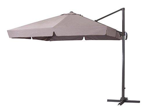 ombrellone da giardino verdelook VERDELOOK Ombrellone a Braccio Deluxe reclinabile con Struttura in Alluminio Color Tortora