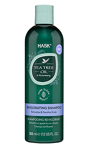 HASK TEA TREE OIL Shampoo for all hair types, color safe, gluten-free, sulfate-free, paraben-free