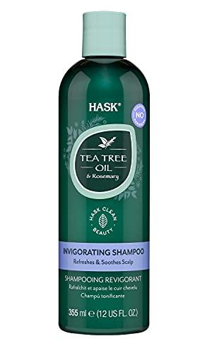HASK Tea Tree Oil & Rosemary Invigorating Shampoo, Multicolor, Cedro, 355 Mililitro