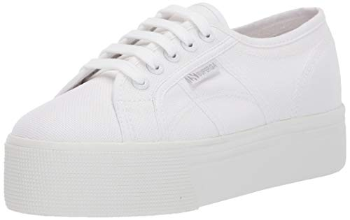 Superga Women's 2790ACOTW Linea UP and Down Sneaker, Total White, 37.5 M EU (7 US)