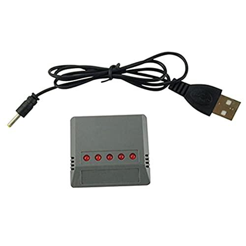 Perfeclan Adattatore per Caricabatterie USB per Batteria Lipo 5 in 1 per Accessorio per Drone X5HC X5HW Alto