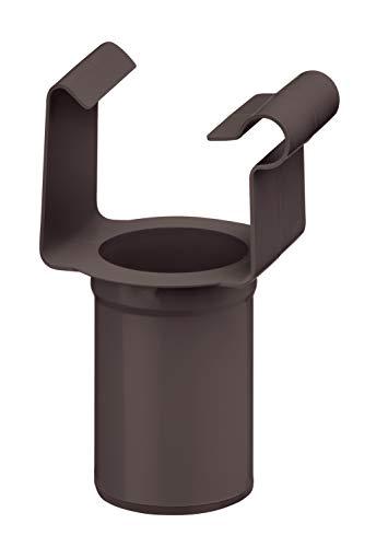 INEFA Ablaufstutzen Kunststoff Dunkelbraun NW 68 DN 50 Kastenförmig - Einhangstutzen, Einhängestutzen, Rinne, Fallrohr, Dachrinne, Regenrohr, Regenfallrohr, Kastenrinne, Halterung - Kunststoffrinne