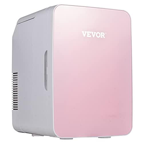 VEVOR Mini Frigorifero con Regolazione della Temperatura Rosa Scuro, 10 Litri CA 220 V 48 W Mini Refrigeratore e Riscaldatore per Casa, Ufficio, Dormitorio, Camera d'Albergo, Auto, Veicolo a Motore