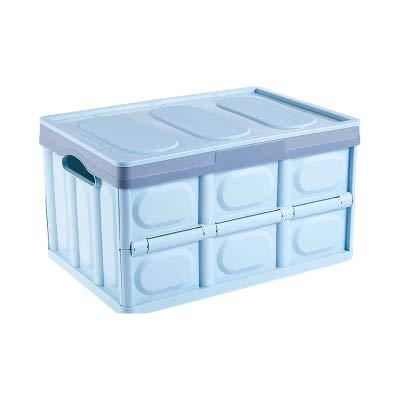 Caja de almacenamiento de plástico, caja de almacenamiento plegable, caja de almacenamiento del maletero del automóvil, artefacto de almacenamiento para estudiantes y maestros, plegable para viajar,