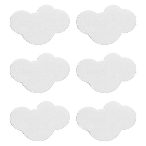 Wolfbush Pomelli per cassetti, 6Pcs Bambini Manicotto di plastica Morbido di plastica di Sicurezza del PVC della Stanza da Bagno del PVC - Nube Bianca